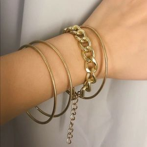 Urban Outfitters Jewelry - LAST SET SALE Chain Link and Bangle Bracelet Set